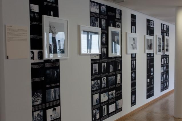Memoire aveugel, Vue d'exposition-Femmes et Modernité, Biennale d'art contemporain, Galerie La Librairie (ENS), Lyon, 2015