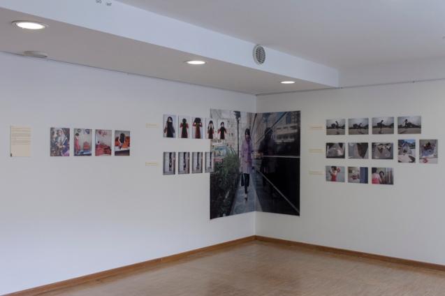 Sara, Vue d'exposition-Femmes et Modernité, Biennale d'art contemporain, Galerie La Librairie (ENS), Lyon, 2015